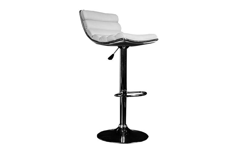 location de mobilier tabouret blanc simili cuir. Black Bedroom Furniture Sets. Home Design Ideas
